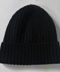 berretto cashmere nero
