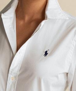 camicia polo ralph bianca donna