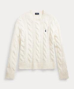 maglia trecce grandi bianca