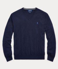 maglione polo blu