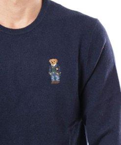 maglione polo blu bear 2