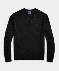 maglione polo nero