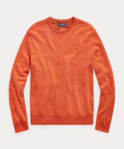 pullover lavato arancio