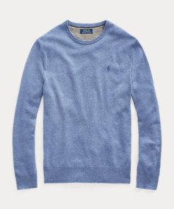 pullover lavato azzurro