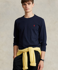 t shirt manica lunga blu